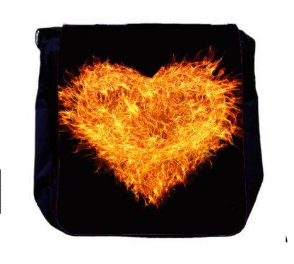 Umhängetasche brennendes Herz