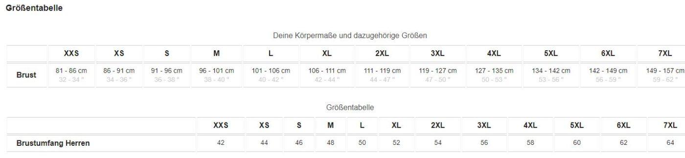 Groesse 7XXL